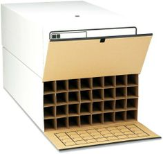 """Safco 3095 Tube-Stor Roll Files, 32 2-3/4"""" Tubes, Fiberboard/Wood, 24 x 37-1/2 x 12, WE, 2 by Safco. $200.60. Corrugated fiberboard with wood side panels for strength.. Index grid inside flap.. Depth adjusters for storing rolls up to 36"""" long.. Velcro® fasteners.. Corrugated fiberboard with wood side panels for strength. Depth adjusters for storing rolls up to 36"""" long. Index grid inside flap. Velcro® fasteners. Box Type: N\A; Box Style: N\A; Material(s): Corrugated Fiberboar..."""