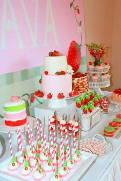 Strawberry Shortcake Birthday Party Ideas | Photo 8 of 21 | Catch My Party