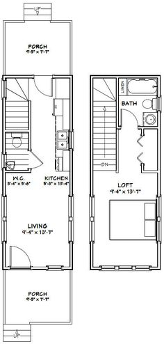 10x28 Tiny House -- #10X28H2A -- 475 sq ft - Excellent Floor Plans