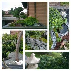 Autunno ... .... Lavori di potatura nel giardino giapponese ..... ...