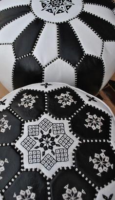 Beyond Marrakech: Moroccan Leather Pouffes