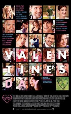 Valentine's Day: Directed by Garry Marshall. With Julia Roberts, Jamie Foxx, Anne Hathaway, Jessica Alba. Intertwining couples and singles in Los Angeles break-up and make-up based on the pressures and expectations of Valentine's Day. Eric Dane, Queen Latifah, Patrick Dempsey, Jessica Biel, Emma Roberts Peliculas, Love Movie, I Movie, Movie List, Movie Blog