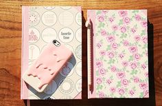 my sweet cloud: Crafts {Cadernos forrados a papel}