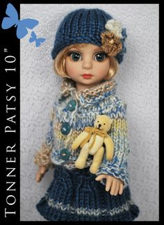"""OOAK Outfit Fashion for Tonner Patsy Ann Estelle 10"""" by Maggie and Kate Create"""