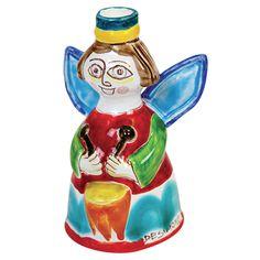 Ceramiche De Simone - Candelabras & Candle Holders - Sicilian Ceramic (Pottery) - ANG340PC - Angelo