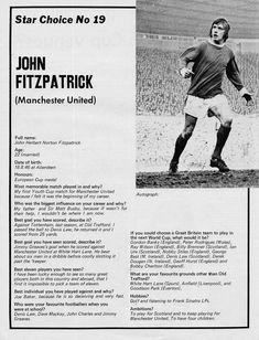 Circa Manchester United utility back John Fitzpatrick, at Old Trafford.