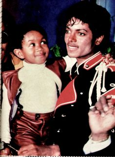 """barbiescanner: """"Michael Jackson and Emanuel Lewis for Bop 1984 """""""