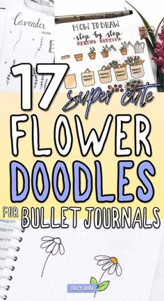 Looking to add some cute flower doodles to your bullet journal and need some ideas to get started? These awesome step by step tutorials will give you the inspiration you need! Daisy Drawing, Flower Doodles, Doodle Flowers, Draw Flowers, Paint Flowers, Doodle Lettering, Drawing Lessons, Bible Drawing, Bible Doodling