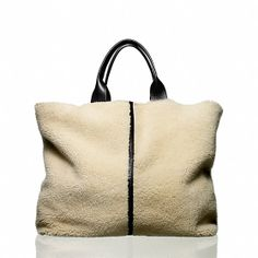Shearling Track Tote