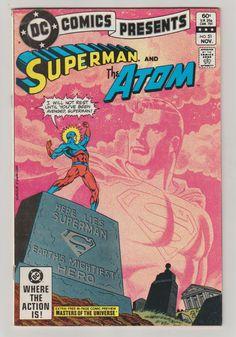 DC Comics Presents (Superman and the Atom, Masters of the Universe), Vol 1, 51 Bronze Age Comic Book.  Fn/Vf.  November 1982.  DC Comics #superman #atom #mastersoftheuniverse #comicsforsale