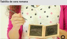 Aprende de la mano de Tatiana, responsable de didáctica del Museo del Libro, cómo hacer una tablilla de cera romana, igual que la que usaban en la antigüedad. Aprende también su historia, usos, etc...