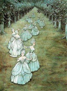 'Twelve Dancing Princesses' by P.J. Lynch.