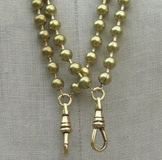 Vintage Necklace whole  Add A Charm supplies long heavy solid gold shiny brass ball chain swivel clip charm holder  lanyard c33
