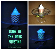Glow in the Dark Frosting! So cool!  Cake Adoration: Cupcakes, Cake Pops & Dessert Tables