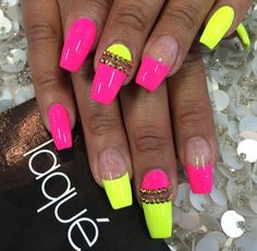Neon colors are my FAVORITE. I will be bringing in the New Year with these :-)