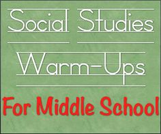 Weird Is Cool in Middle School: Social Studies Warm-Ups for Middle School
