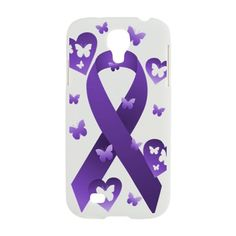 #Purple #Awareness #Ribbon Samsung Galaxy S4 Case on CafePress.com