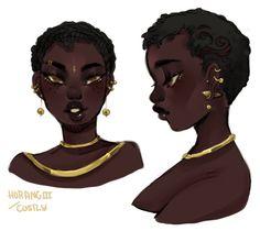 Lou Custom Adopt pt 1 by Costly on DeviantArt Black Cartoon Characters, Black Girl Cartoon, Black Girl Art, Black Women Art, Cartoon Art, Art Girl, Black Girls, Pretty Art, Cute Art
