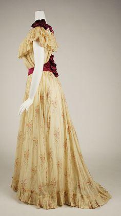 Dress (image 2) | American | 1891-1892 | cotton, silk | Metropolitan Museum of Art | Accession #: C.I.62.36.3a,b