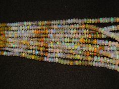 50% SALE Ethiopian Opal Bead Welo Opal Faceted by gemsforjewels