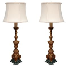 Pair of Prickets as Table Lamps