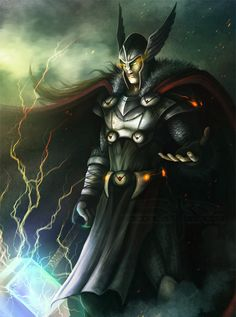 Lord of the Aesir.  Thor, by Jericho Benavente.