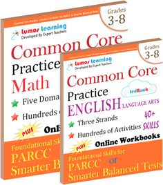 Help students master common core standards with these standards-aligned math and ela workbooks that boost success on 2017 assessments.