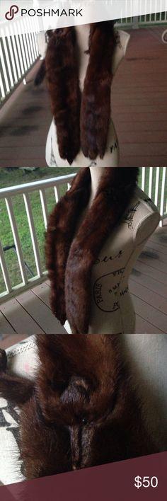 3 mink stole vintage Vintage in good shape 3 mink stole hard to estimate original cost? Canadian Accessories Scarves & Wraps