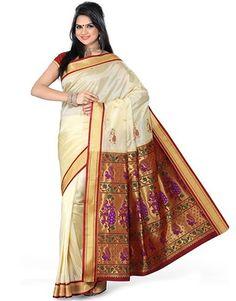 white-paithani-saree