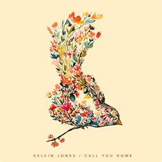 Album Cover for Kalvin Jones I made using the art from Mōhala - blossom bird painting on etsy.