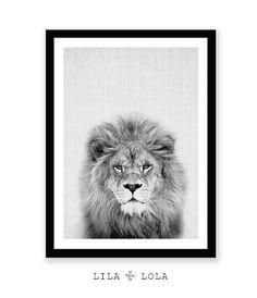 Impression Lion pépinière Animal Art Safari décor par LILAxLOLA