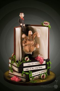 Little Cherry Cake Company - Goosebumps Manuscript cake