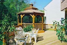 wooden gazebo design for back yard