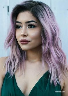 51 Alluring Medium Length Hairstyles & Haircuts for Women to Try - Schulterlange Haare Ideen Medium Hair Cuts, Medium Hair Styles, Short Hair Styles, Plait Styles, Pastel Purple Hair, Brown Hair Colors, Short Lilac Hair, Winter Hair Colors, Lilac Nails