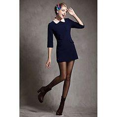 Pan Collar manches 3/4 élégante robe de SAUO femmes – EUR € 24.74