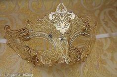 LUXURY Gold Silver Pink Purple Red Blue Black Venetian MardiGras Masquerade Mask