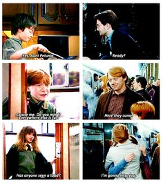 Their first and last words...Yes Hermione, we will miss you too.