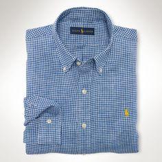 ralph lauren borse shop online, Uomini - Camicia a quadretti Lino Sport -  Maglie maniche