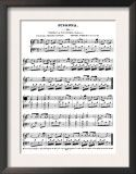 Frame sheet music of a favorite song or wedding song