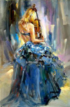 Dancing With a Violin 1. By Anna Razumovskaya  ♥