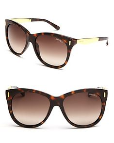 Jimmy Choo Sunglasses With Metal | Bloomingdale's