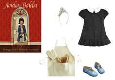 Crewcuts girls' snowflake crown, $35jcrew.comIsabel Garreton toddler's and little girl's pleated chevron dress, $48saksfifthavenue.comFlora and Henri Frances flat, $118–$142florahenri.comOdette Williams kids natural and silver stars apron set, $45odettewilliams.com - Photo: (Clockwise from left) Courtesy of J.Crew; Courtesy of Saks Fifth Avenue; Courtesy of florahenri.com; Courtesy of Odette Williams