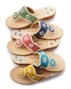 Jack Rogers - Harbor Sandal (they're canvas!)