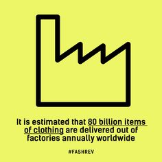 It is estimated that 80 billion items of clothing are delivered out of factories…