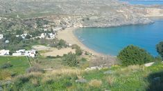 A View Of Lindos Beach From The Acropolis