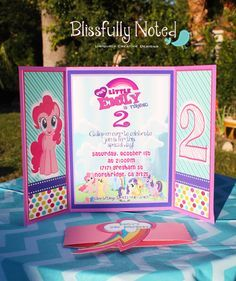 Rush 12 My Little Pony Birthday Invitation by BlissfullyNoted