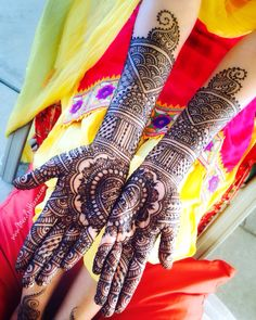 Bridal Henna Now booking for 2016 Instagram @MendhiHennaArtist