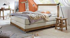 Hochwertiges Designer-Bett aus massiver Wildeiche. #luxus #massivholz #boxspringbetten #schlafzimmerideen