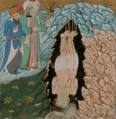 Persian miniature depiction of the story of Harut and Marut