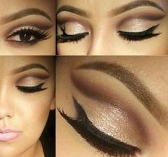 Makeup for brown eyes neutral colors